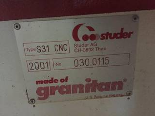 Grinding machine Studer S 31 universal full +B axis + C axis rebuilt-5