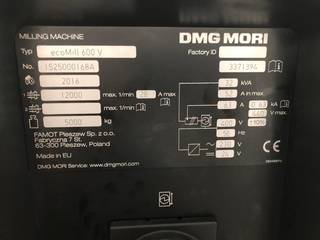 Milling machine DMG Mori ecoMill 600V, Y.  2016-3