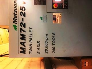 Milling machine Matsuura MAM 72 25V, Y.  2007-9