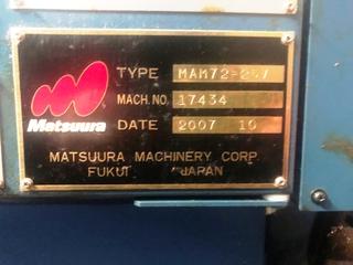 Milling machine Matsuura MAM 72 25V, Y.  2007-4