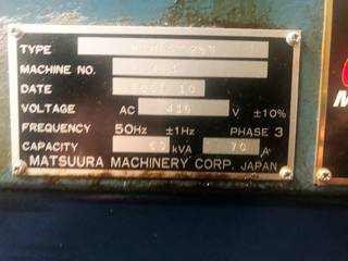 Milling machine Matsuura MAM 72 25V, Y.  2007-5