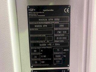 Milling machine Mikron HPM 800 U-13