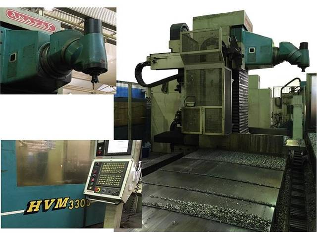 more images Anayak HVM 3300 rebuilt Bed milling machine