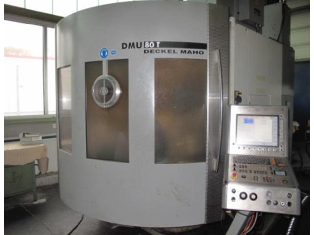 more images Milling machine DMG DMU 80 T Turbinenschaufeln/fanblades, Y.  2005