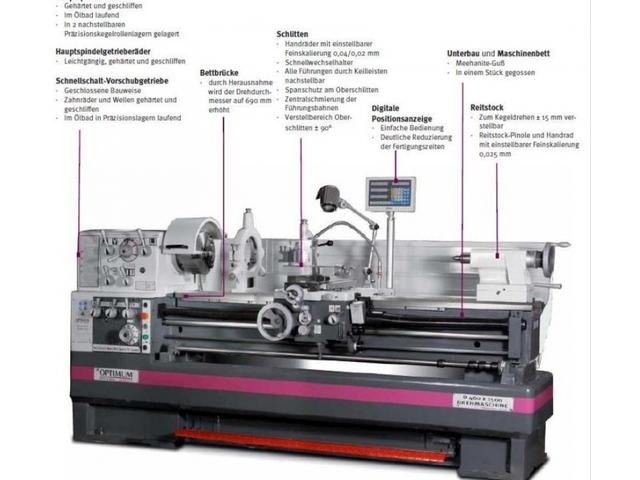 more images Lathe machine Optimum D 460 x 1000 DPA