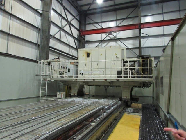more images SNK Gantry 3 x head Portal milling machines
