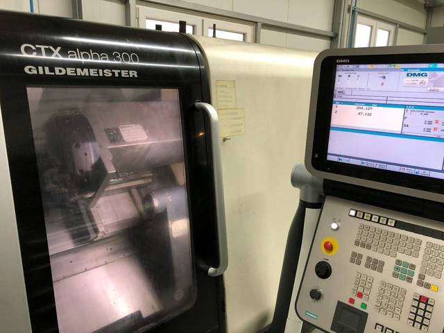 more images Lathe machine DMG CTX alpha 300
